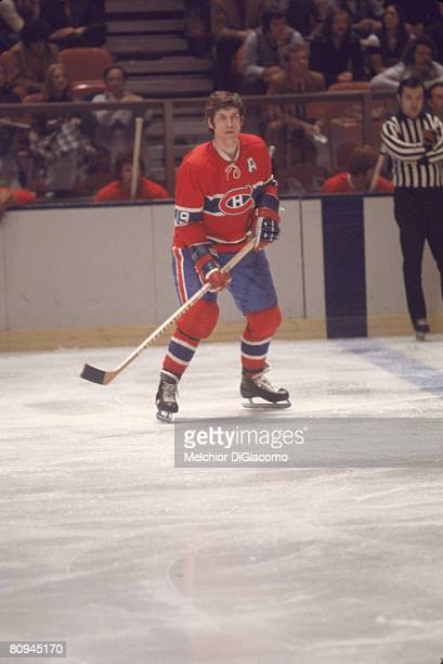 Canadian ice hockey player Terry Harper of the Montreal Canadiens skates on the ice during a game against the New York Rangers at Madison Square...