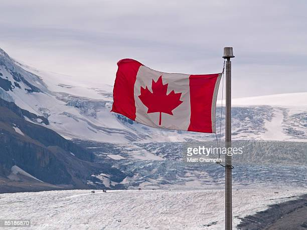 canadian ice - canadian flag stock pictures, royalty-free photos & images