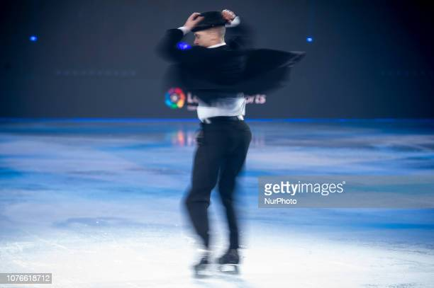 Canadian Ice Skater Kurt Browning performs during Revolution on Ice Madrid 2018 at Vista Alegre Palace in Madrid Spain December 2018