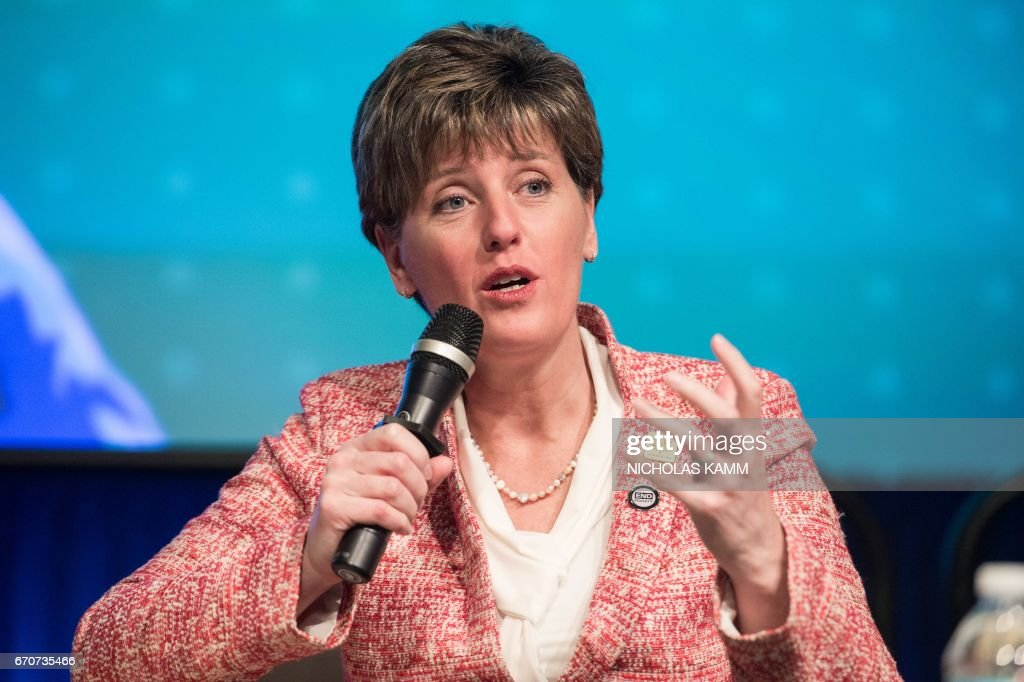 Canadian International Development Minister Marie-Claude Bibeau speaks during a discussion entitled 'Generation Now - Investing in Adolescents Today to Shape the World of Tomorrow' at the IMF/WB Spring meetings in Washington, DC, on April 20, 2017. /