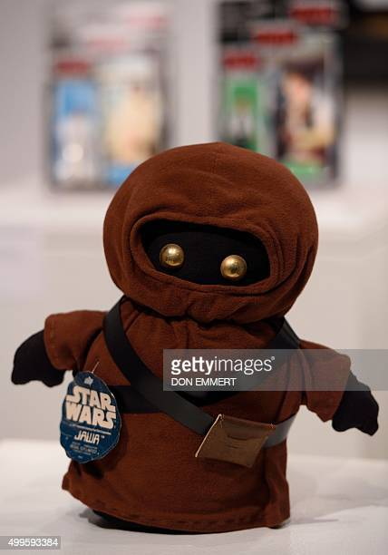 A Canadian Jawa is part of the items of Star Wars collectibles Return of the NIGO displayed during a press preview at Sotheby's December 2 2015 in...