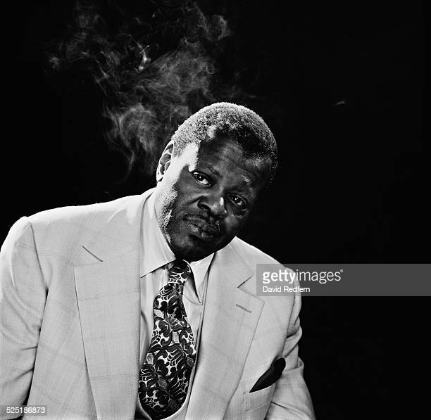 Canadian jazz pianist and composer Oscar Peterson in Charing Cross Road Studios London circa 1976