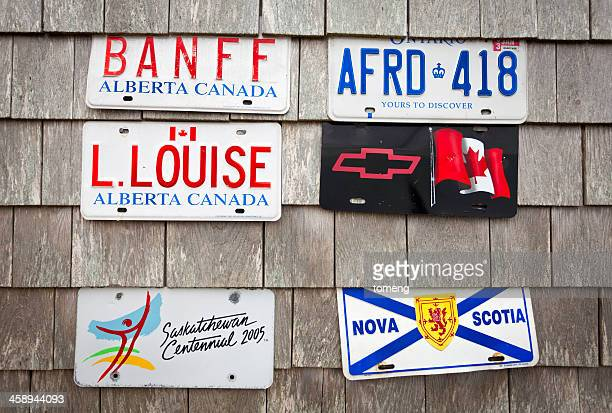 Canadian License Plates on Shingles