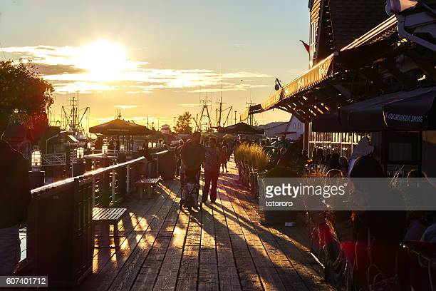 Canadian Lifestyles at Steveston Fisherman's Wharf, in Richmond BC Canada