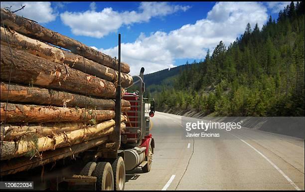 Canadian lumber truck