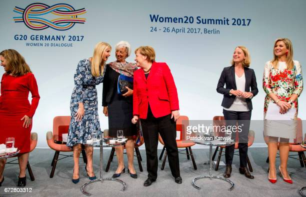 Canadian Minister of Foreign Affairs Chrystia Freeland First Daughter and Advisor to the US President Ivanka Trump Christine Lagarde of the...