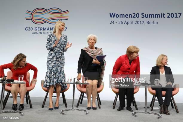 Canadian Minister of Foreign Affairs Chrystia Freeland Ivanka Trump daughter of US President Donald Trump International Monetary Fund Managing...