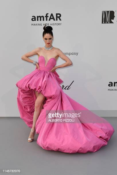 Canadian model Coco Rocha poses as she arrives on May 23 2019 for the amfAR 26th Annual Cinema Against AIDS gala at the Hotel du CapEdenRoc in Cap...