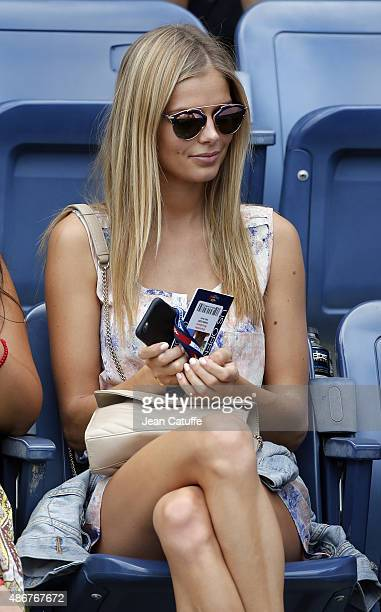 Canadian model Danielle Knudson girlfriend of Milos Raonic of Canada attends his match on day five of the 2015 US Open at USTA Billie Jean King...