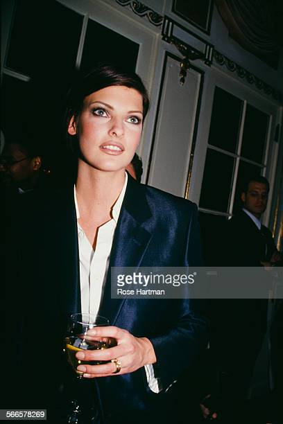 Canadian model Linda Evangelista attends the Marc Jacobs Fall 1995 fashion show 1995