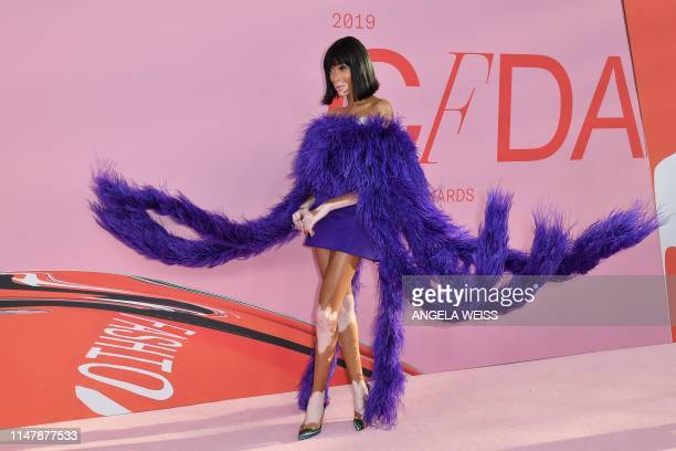 Canadian model Winnie Harlow arrives for the 2019 CFDA fashion awards at the Brooklyn Museum in New York City on June 3, 2019.