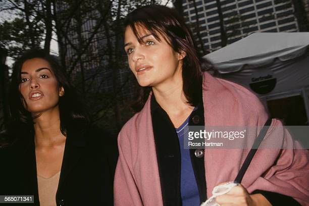 Canadian model Yasmeen Ghauri with Danish fashion model and photographer Helena Christensen New York City circa 1995