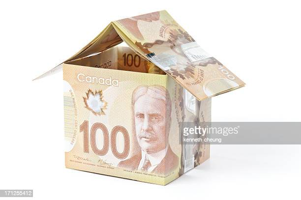 canadian money house - canadian currency stock pictures, royalty-free photos & images
