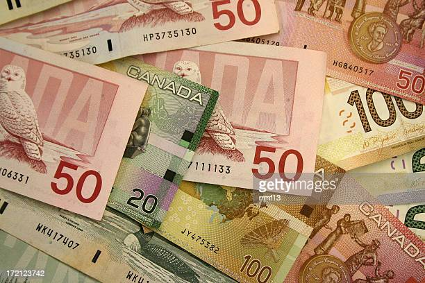 canadian money - canadian one hundred dollar bill stock pictures, royalty-free photos & images