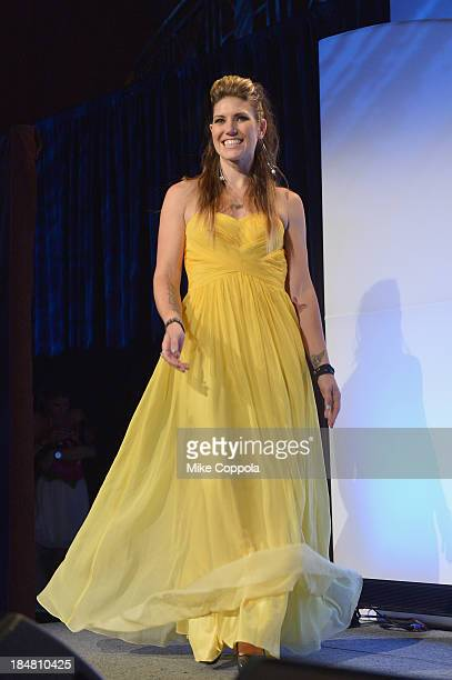 Canadian Motocross National Champion Jolene Van Vugt onstage during the 34th annual Salute to Women In Sports Awards at Cipriani Wall Street on...