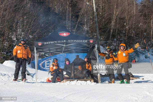 Canadian mountain resuce team on 10th February 2017 in Stoneham Mountain Canada The Canadian Jamboree is part of the ski and snowboard FIS World Cup...