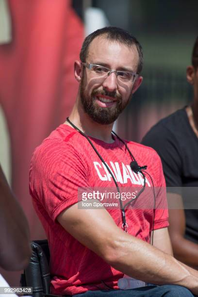 Canadian multiple paralympic medalist Brent Lakatos at press conference launching the 2018 Athletics Canada National Track and Field Championships...