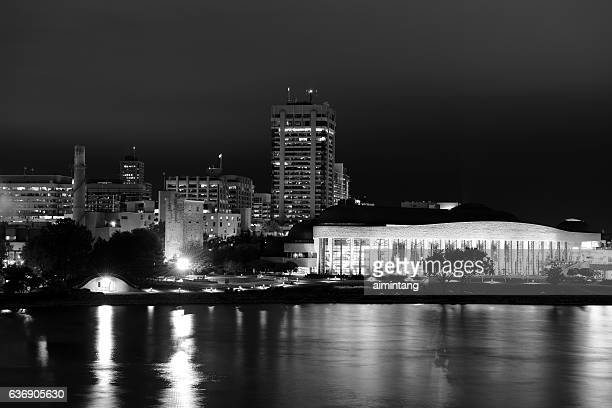 canadian museum of history in b&w - gatineau stock photos and pictures