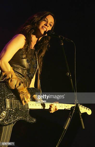 Canadian musician Alanis Morissette plays her first fullscale UK live date since 2001 at Carling Academy Brixton on April 21 2005 in London...