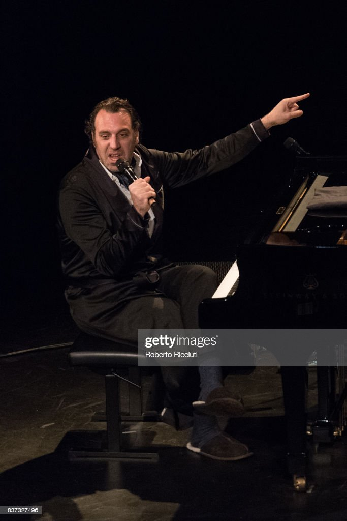 Canadian musician Chilly Gonzales performs 'Room 29' on stage at King's Theatre as part of the 70th Edinburgh International Festival on August 22, 2017 in Edinburgh, Scotland.