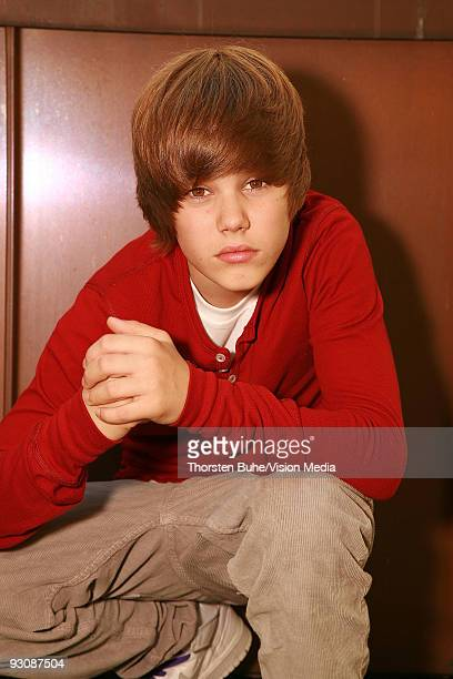 Canadian musician Justin Bieber poses during a photo session on August 19 2009 in Munich Germany