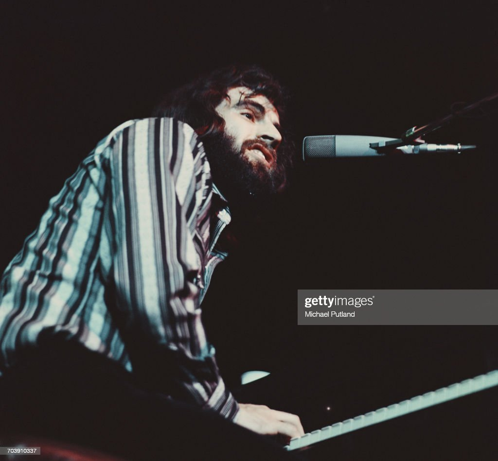 Canadian Musician Richard Manuel Of The Band Performing At The
