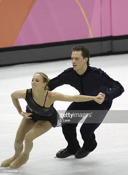 Canadian Olympic figure skaters Valerie Marcoux and Craig Buntin during practice at the Palavela figure skating and short track venue at the Torino...