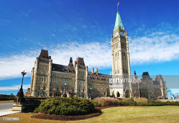 canadian parliament in ottawa - buzbuzzer stock pictures, royalty-free photos & images