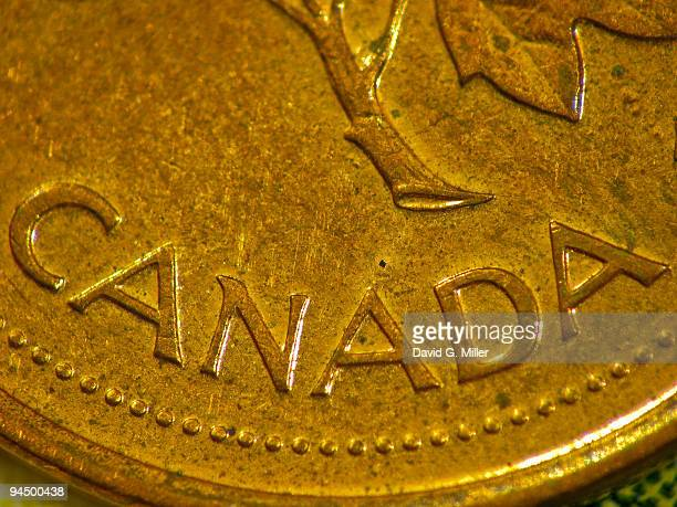 canadian penny - canadian currency stock pictures, royalty-free photos & images
