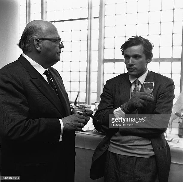 Canadian pianist Glen Gould with Josef Kripps during a break in rehearsal at the Royal Festival Hall.