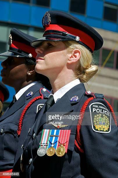 canadiana a polícia nypd memorial cerimónia, 9 de setembro de 2011, nova iorque - uniform cap imagens e fotografias de stock
