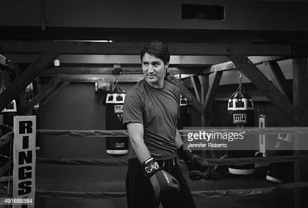 Canadian politician and the leader of the Liberal Party of Canada Justin Trudeau is photographed for The Globe and Mail on September 2 2015 in...