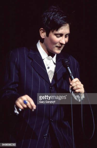 Canadian Pop and Country musician kd lang performs onstage at Radio City Music Hall New York New York October 16 1997