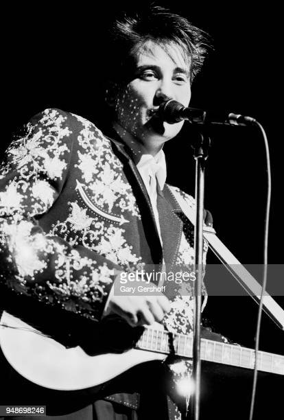 Canadian Pop and Country musician kd lang performs onstage at the Beacon Theatre, New York, New York, August 11, 1989.