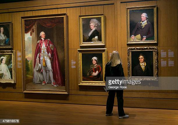 Canadian portraits are on display at the Montreal Museum of Fine Arts as viewed on June 28 2015 in Montreal Quebec Canada Montreal the largest city...