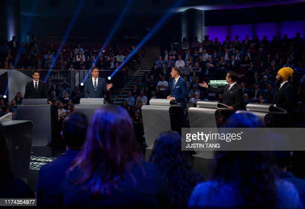 Canadian Prime Minister and Liberal leader Justin Trudeau Conservative leader Andrew Scheer People's Party of Canada leader Maxime Bernier Bloc...