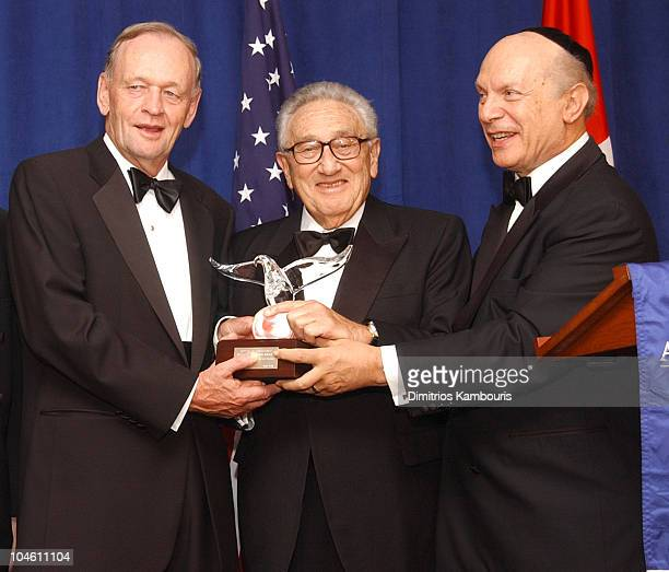 Canadian Prime Minister Jean Chretien Henry A Kissinger and Rabbi Arthur Schneier