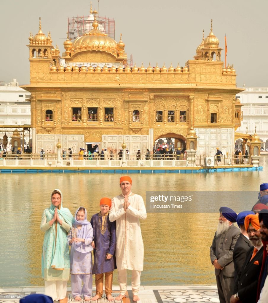 Canadian Prime Minister Justin Trudeau, Family Pay Obeisance At Golden Temple : News Photo