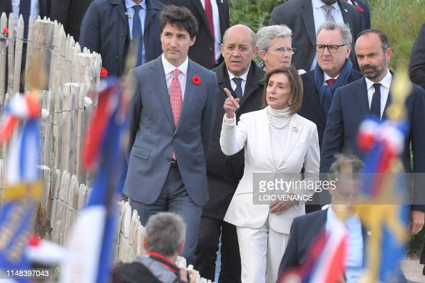 Canadian Prime Minister Justin Trudeau French Foreign Affairs Minister JeanYves Le Drian US House Speaker Nancy Pelosi French Junior Defence Minister...