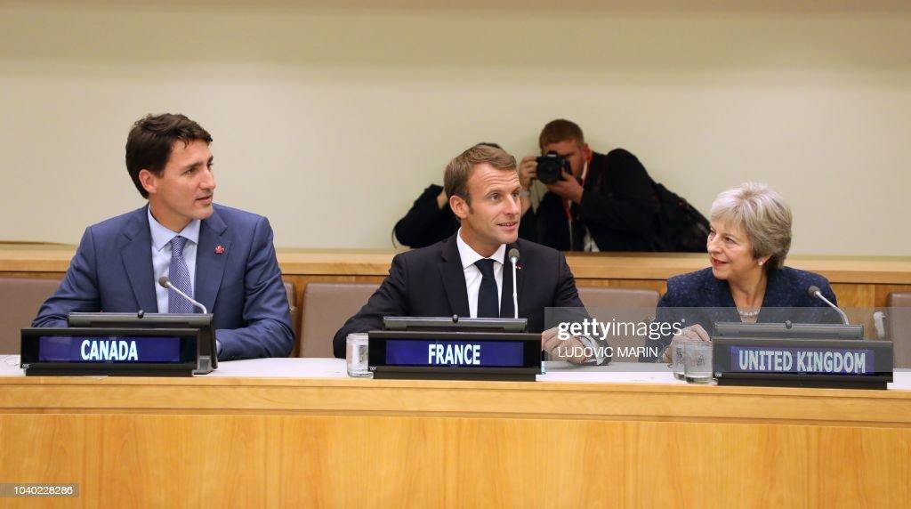 UN-CANADA-FRANCE-UK : News Photo