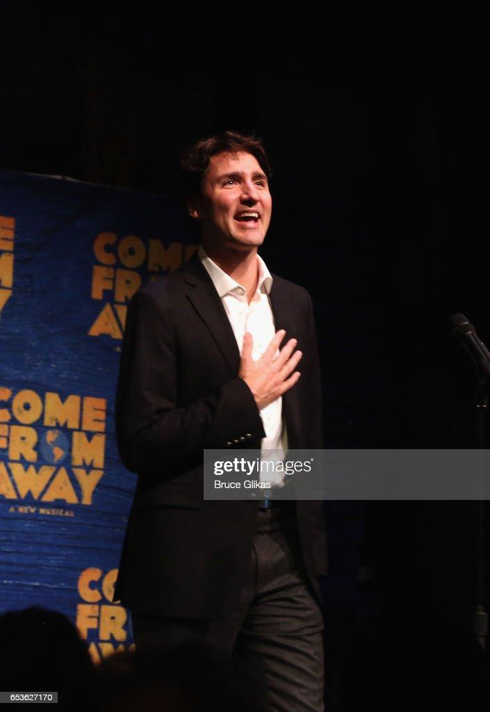 Canadian Prime Minister Justin Trudeau Visits Broadway