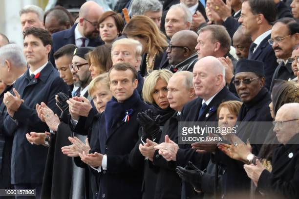 Canadian Prime Minister Justin Trudeau Morocco's Prince Moulay Hassan Moroccan King Mohammed VI US First Lady Melania Trump US President Donald Trump...