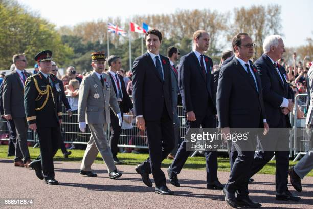 Canadian Prime Minister Justin Trudeau Prince William Duke of Cambridge French President Francois Hollande Governor General of Canada David Johnston...