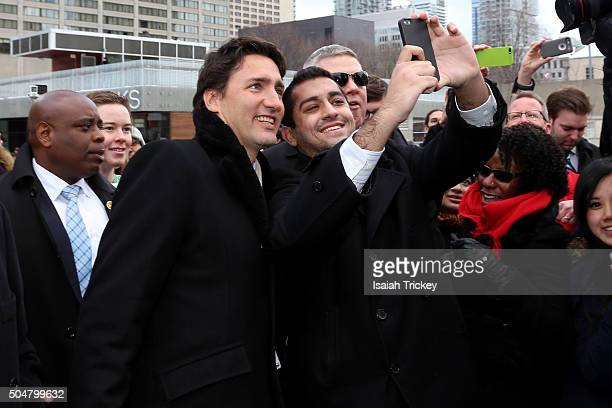Canadian Prime Minister Justin Trudeau Visits Toronto City Hall at Toronto City Hall on January 13, 2016 in Toronto, Canada.