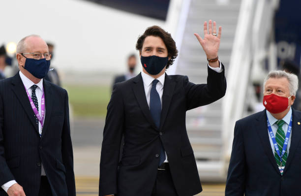 GBR: Foreign Leaders Arrive For G7 Summit