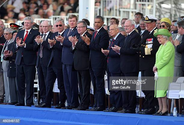 Canadian Prime Minister Stephen Harper President of the European Council Herman Van Rompuy King Philippe of Belgium King WillemAlexander of The...