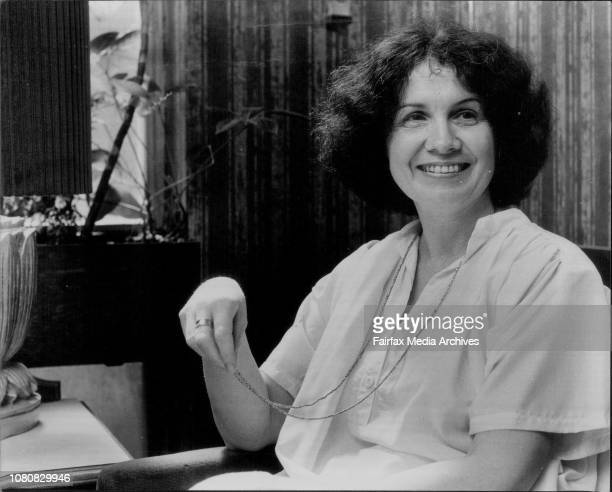 Canadian prizewinning author Alice Munro at the Sebel Town House March 9 1979