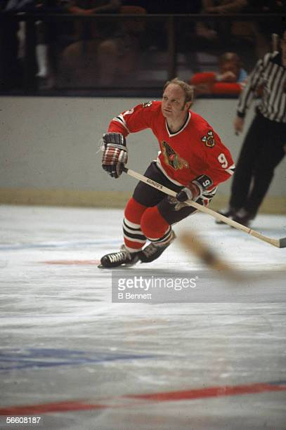 Canadian professional hockey player Bobby Hull of the Chicago Blackhawks on the ice 1960s