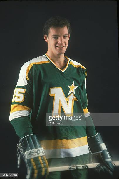 Canadian professional ice hockey player Bobby Smith of the Minnesota North Stars poses for a photograph without a helmet, November 1980. Smith played...