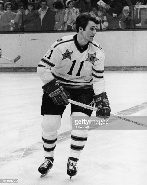 Canadian professional ice hockey player Gilbert Perreault of the Buffalo Sabres on the ice during an NHL All Star Game mid 1970s